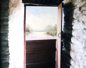 Half Door (print of original acrylic) & Half door | Etsy