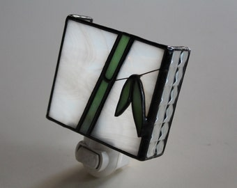 Bamboo- stained glass night light
