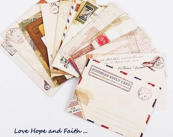 Scrapbooking: Vintage letters (12 sheets)