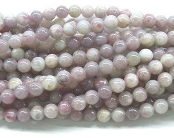 Tourmaline Beads Natural Genuine 6mm Round Pink Beads - 4626 - 15''L 38cm Loose Beads Semiprecious Gemstone Bead   Supply