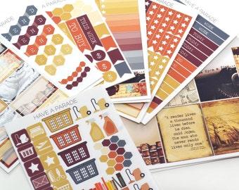 200+ Vintage Books Sticker Set for your Erin Condren Life Planner