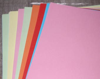 100 sheets of colorful 21cm 30 cm