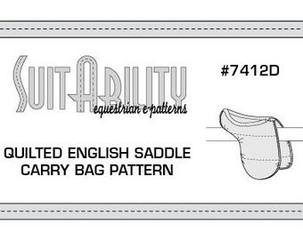 PDF Quilted English Saddle Carry Bag Pattern