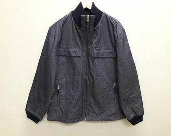 Vintage CK Calvin Klein Jacket zip Up Made Italy Large Size