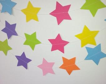 STARSTRUCK Paper Star Garland - Party, Wedding, Shower, Nursery, Room Decoration