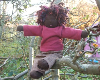 Deposit for One of a kind, Custom Made, Waldorf Inspired 'T' doll, 12 inches/ 30 cms
