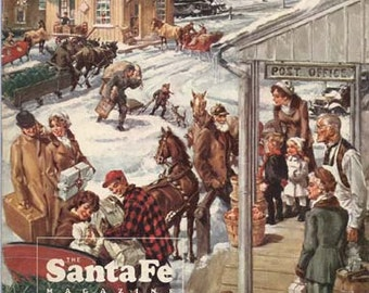 The Santa Fe Magazine December 1972 Railroad Employees and Articles