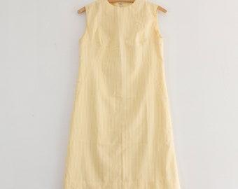 1960s mod shift dress   vintage striped dress