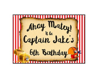 Pirate Birthday Banner - Vinyl