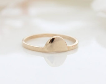 Moon Gold Ring • Stacking ring • Delicate gold ring • Gifts for her