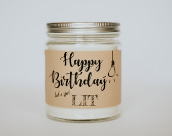 Let's Get Lit Scented Soy Candle, Sassy Soy Candle, Scented Birthday Candle, Funny Gift, Sassy Gift, Best Friend Gift, Fun Cande