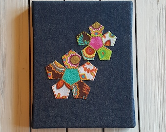 Geometric Flowers Applique Embroidery