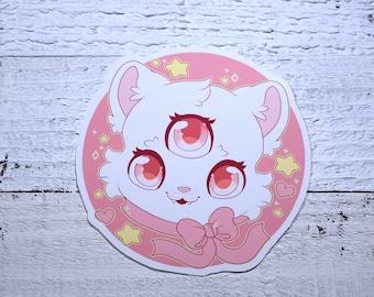 Kawaii 3 Eyed Cat Sticker