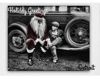1926 Santa pays a visit Detroit  vintage greetings.