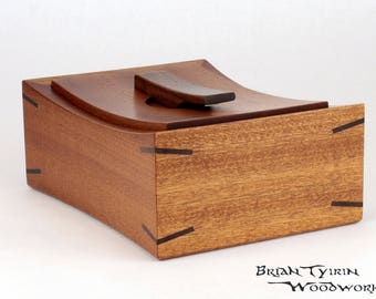 Wooden Keepsake Box Made In Sapele