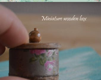 Miniature rustic wooden box