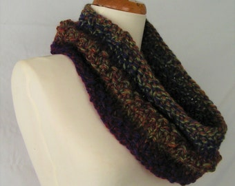 Cowl Handknit KURBULI Soft Wool Scarf Neckwear Handknit