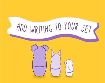 Add Writing to my Nesting Set Order