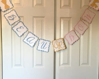 Beau or Bow, Beau Or Bow Gender Reveal, Beau Or Bow Banner, Boy or girl reveal, gender reveal banner, BabyShower, Gender Reveal Party, Baby