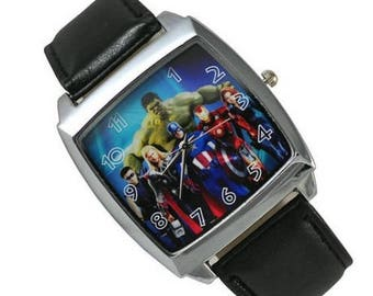 Marvel Watch The Avengers Super Heroes (Iron Man, Hulk, Captain America, Thor)