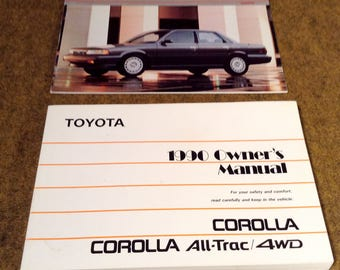 1990 Toyota Corolla Owners Manual and Owner's Guide - Each all Original