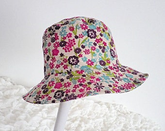 4e393c22327 Sun Hat Child s Hat Bucket Style Hat Travel Hat Cotton