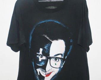 VINTAGE 80s ELVIS COSTELLO 50/50 rock punk tour concert promo t shirt nick lowe