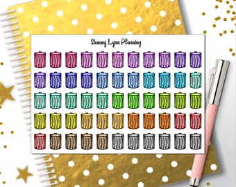 Trash Can/Trash Day Planner Stickers