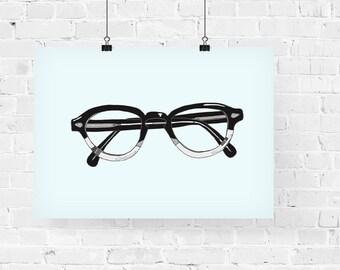 B/W Frames Fashion Illustration Art Print