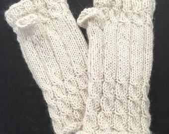 Alpaca Knit Fingerless Mitts