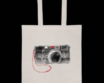 Gift for Photographer. Vintage Camera Photo Tote - Simple Camera Bag - Gift for photographers, artists, creatives  Photo tote bag