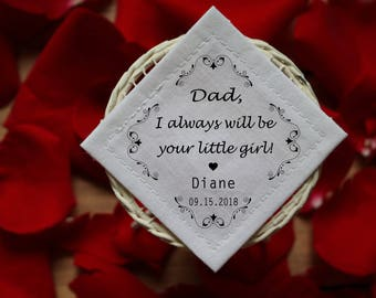 Father of the Bride Gift / Personalized Tie Patch / Personalized Tie Label / Wedding Custom Patch / Thank You Dad