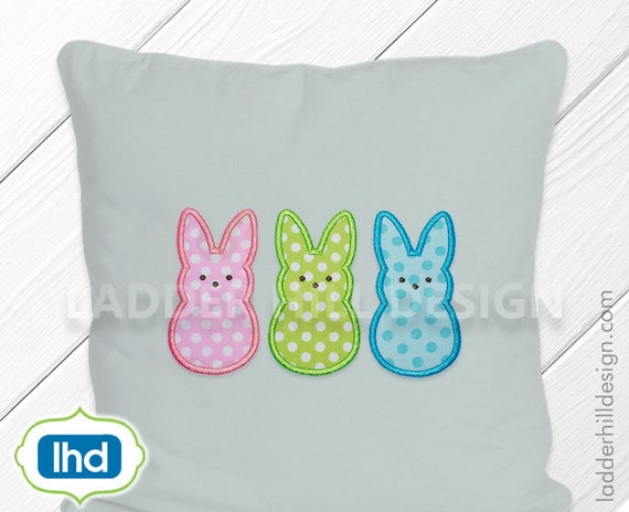 Peep Bunny Applique Embroidery -- Peeps Applique -- Easter ...