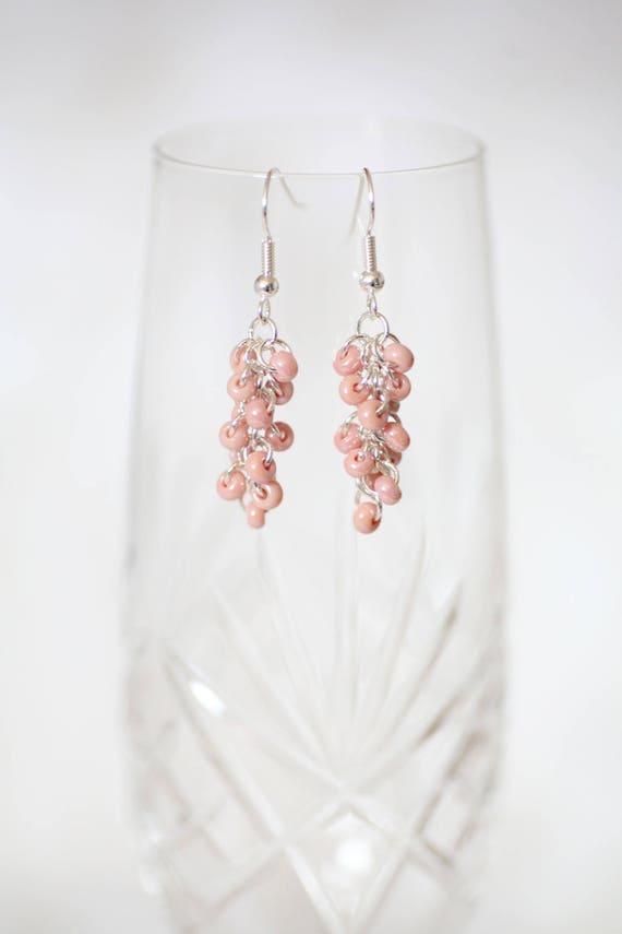 Czech Glass Bead Earrings Ear Wire Earrings Fish Hook