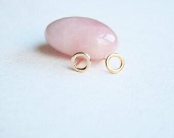 Gold circle studs, geometric gold earrings stud, everyday studs, simple post earrings, minimal gold stud earrings, simple gold studs