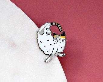 Sleeping Cat Enamel Pin | Cute Kitty Pin