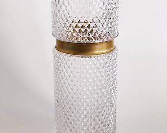 Vintage Crystal and Gold Vase