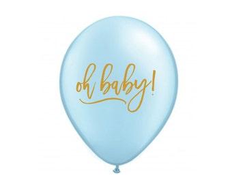 Oh Baby! Balloon, Oh Baby, Baby Shower, Baby Shower Decoration, Baby Shower Decor, Gender Reveal, Gender Reveal Balloons, Baby Boy, Blue