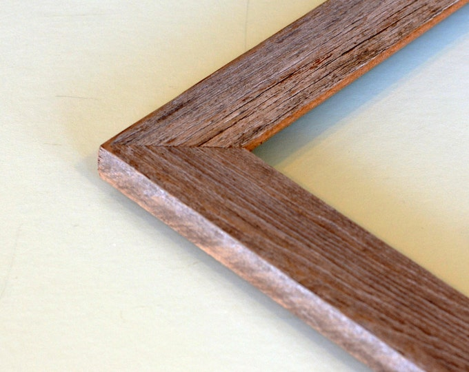Rustic Natural Reclaimed Cedar Picture Frame - Choose your Large frame size: 10x10, 9x12, 10x12, 11x11, 12x12, 11x13, 11x14, or 12.5x12.5""