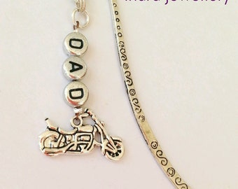biker bookmark, gift for biker, fathers day gift, harley davidson lover, biker bookmark, book lover gift, motorcycle gift for him