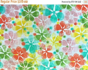 SALE Summer Skies in Multi - Cotton Quilting Fabric by the HALF Yard Multi Colored Packed Floral - FWM