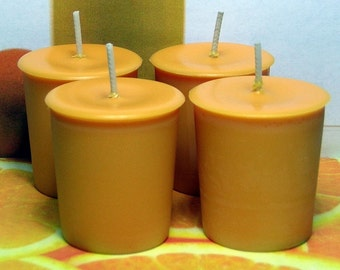 Fresh Squeezed Oranges Votive Candles PURE SOY (Set of 4)