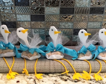 Boy Baby shower favor with a stork. Package of five.