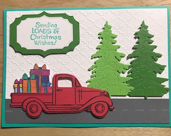 Red Christmas Truck Boxed Set