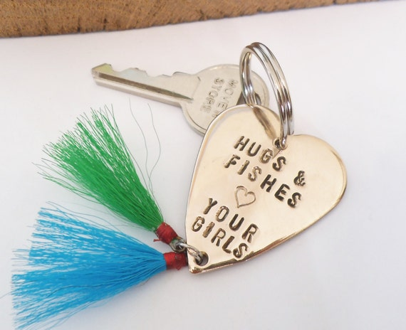 Daddy Gift for Christmas Father Daughter Fishing Lure Keyring