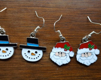 Christmas themed earrings