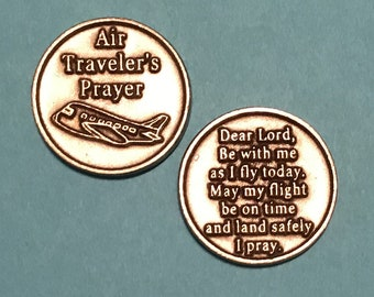 Air Traveler's Token, Safe Travels, Safe Travels Gift, Flight Attendant, Pilot Gift, Safe Travel, Fly Safe Gift, Travel Gift, Travel Safe