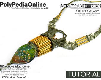 Macrame Patterns, Macrame Jewelry, DIY Craft, Necklace Pattern, Handmade Bead, Micro Macrame Jewelry, DIY Polymer, Step by Step Tutorial