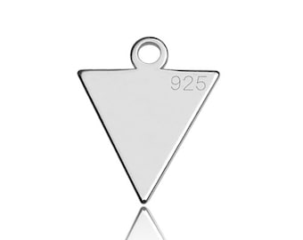 Charm Small Triangle Sterling Silver 925