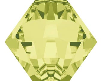 Swarovski Crystal - 6328 Bicone Top Drilled - Jonquil - 6mm, 8mm